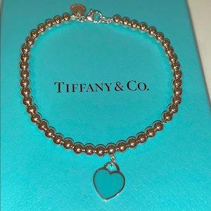 Tiffany & Co blue heart beaded bracelet